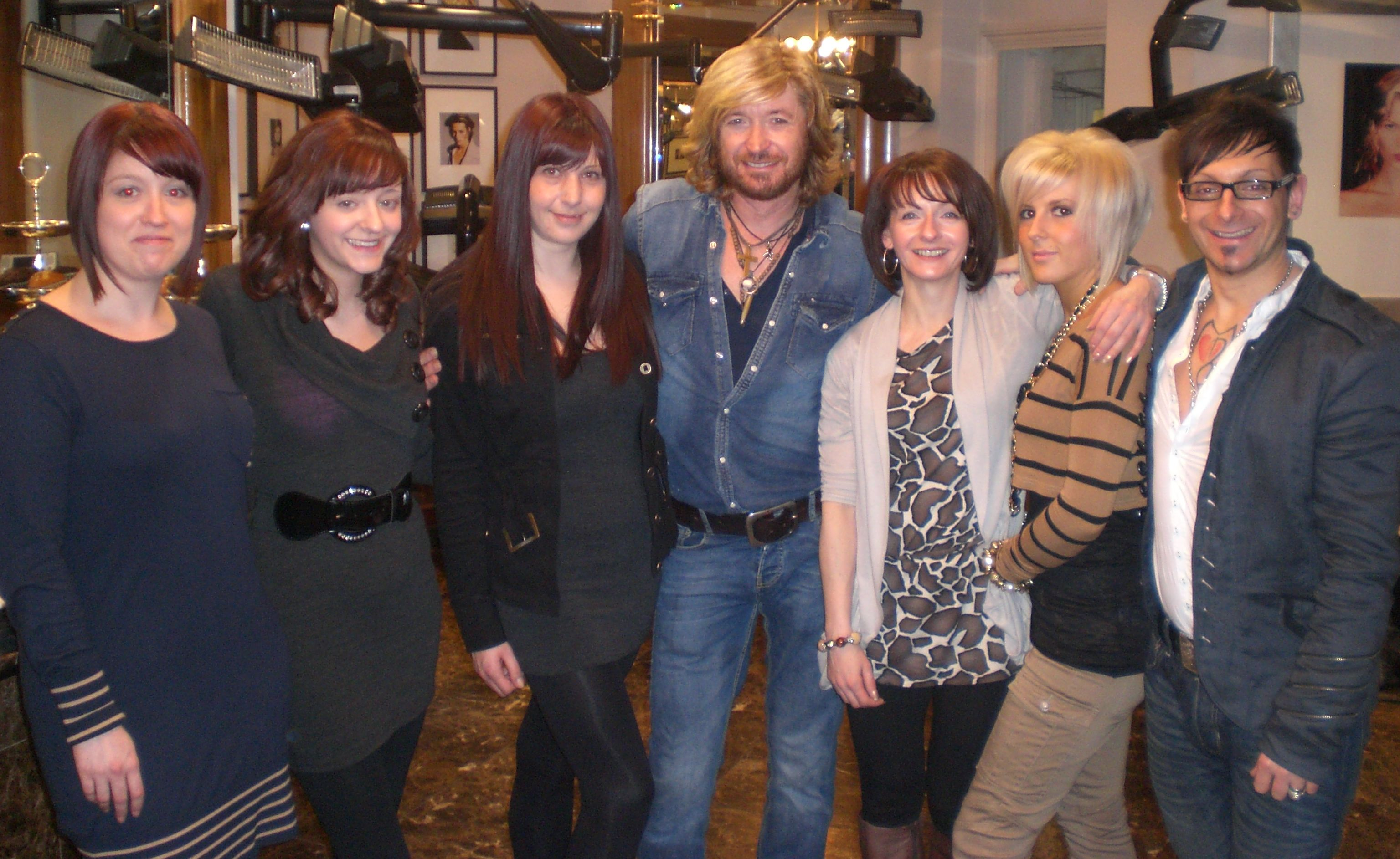 The Team at Nicky Clarke's salon in London